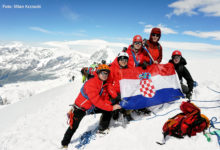 Planinari iz Otočca na vrhu Breithorn 4164m