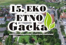Danas započinje 15-ta Eko-etno Gacka manifestacija