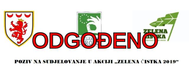 """Odgađa se  """"Zelena čistka 2019"""" za utorak, 16. travnja"""