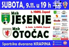 MNK Otočac – MNK Jesenje | 09. studenog u sportskoj dvorani Krapina