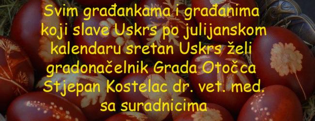 Gradonačelnik Stjepan Kostelac čestitao pravoslavni Uskrs