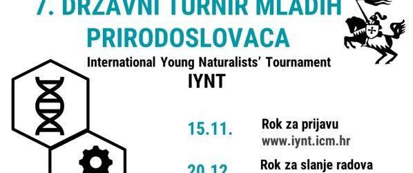 Prijave za 7. državni turnir mladih prirodoslovaca otvorene do 15.  studenog
