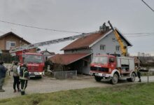Četvrta smjena Ličko-senjskih vatrogasaca u Petrinji