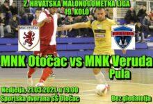 Večeras utakmica MNK Otočac – MNK Veruda