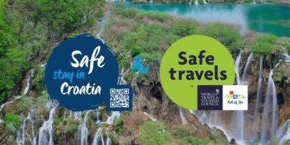 NP Plitvička jezera nositelj nacionalnih oznaka Safe stay i Safe travels