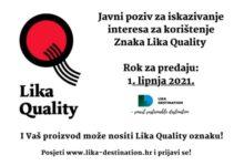 Raspisan Javni poziv za iskazivanje interesa za korištenje Znaka Lika Quality
