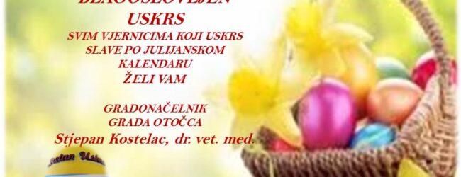 Čestitka gradonačelnika Kostelca vjernicima koji Uskrs slave po Julijanskom kalendaru