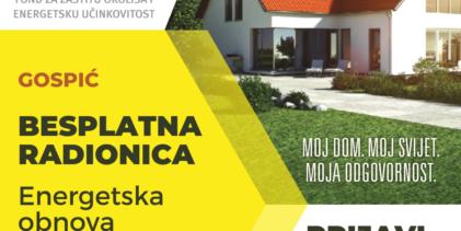 Prijave za besplatnu radionicu o energetskoj obnovi kuća