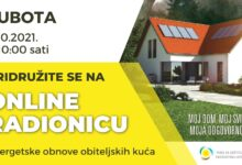 Besplatna online radionica o energetskoj obnovi obiteljskih kuća