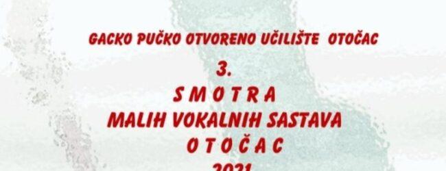 3. Smotra malih vokalnih sastava Otočac 2021